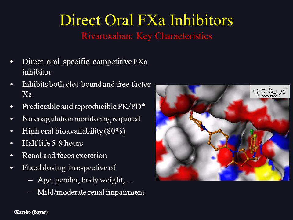 Direct Oral FXa Inhibitors