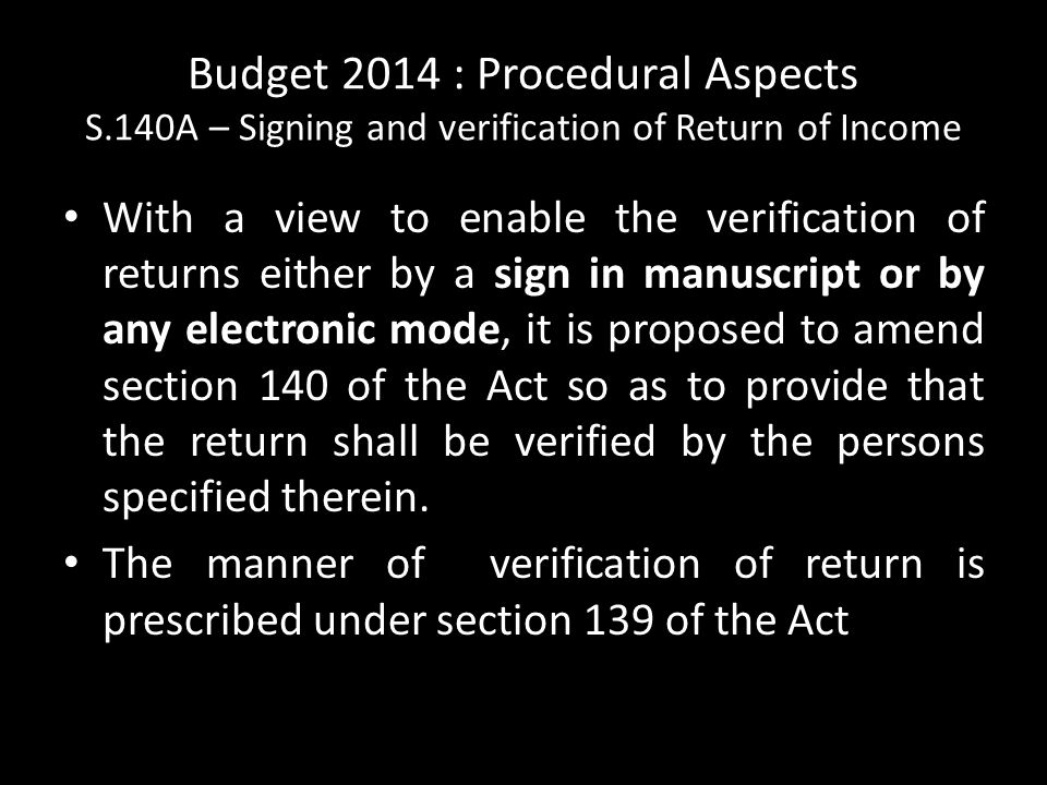 Budget 2014 : Procedural Aspects S