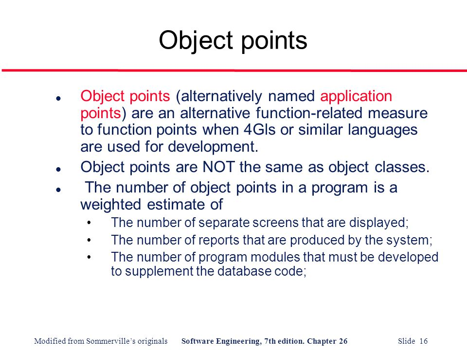 Object points