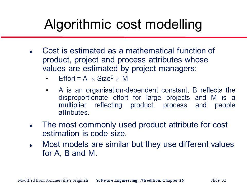 Algorithmic cost modelling
