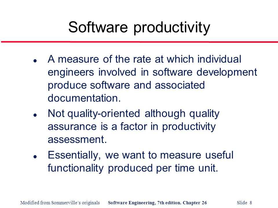 Software productivity