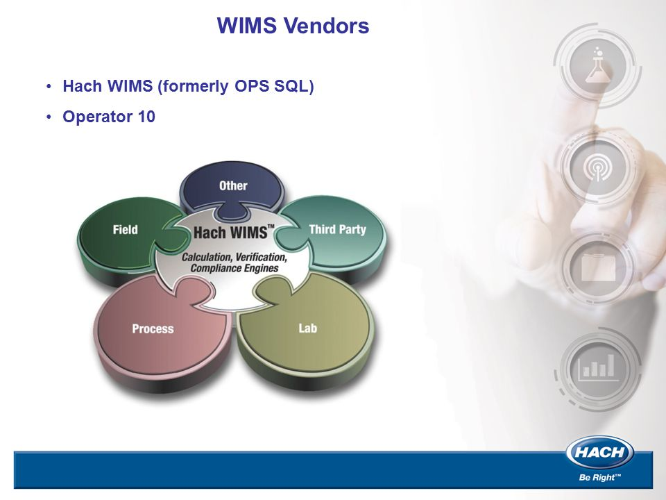 WIMS Vendors Hach WIMS (formerly OPS SQL) Operator 10