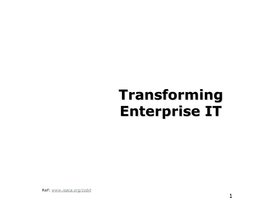 Transforming Enterprise IT