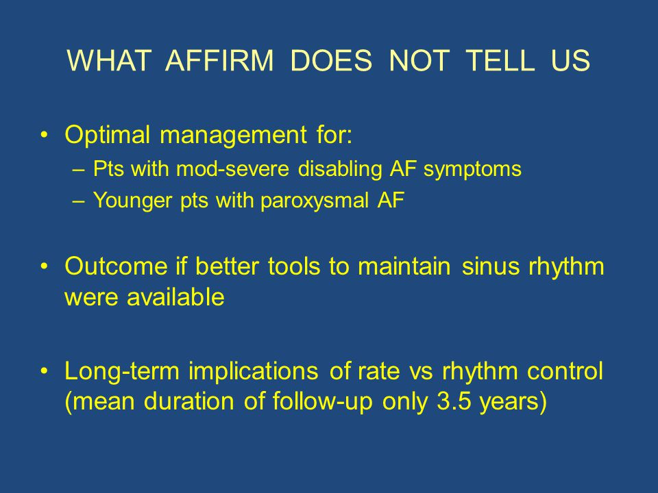 WHAT AFFIRM DOES NOT TELL US