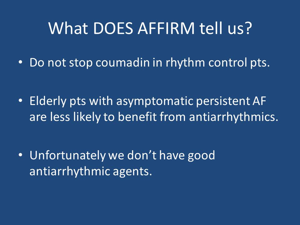 What DOES AFFIRM tell us