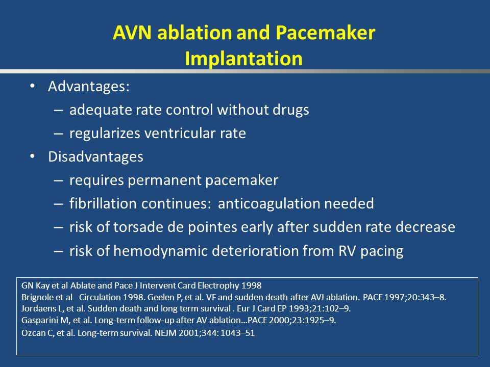 AVN ablation and Pacemaker Implantation