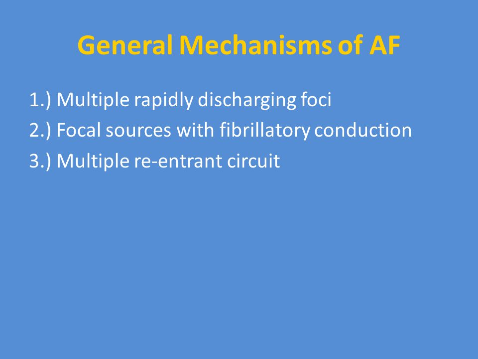 General Mechanisms of AF