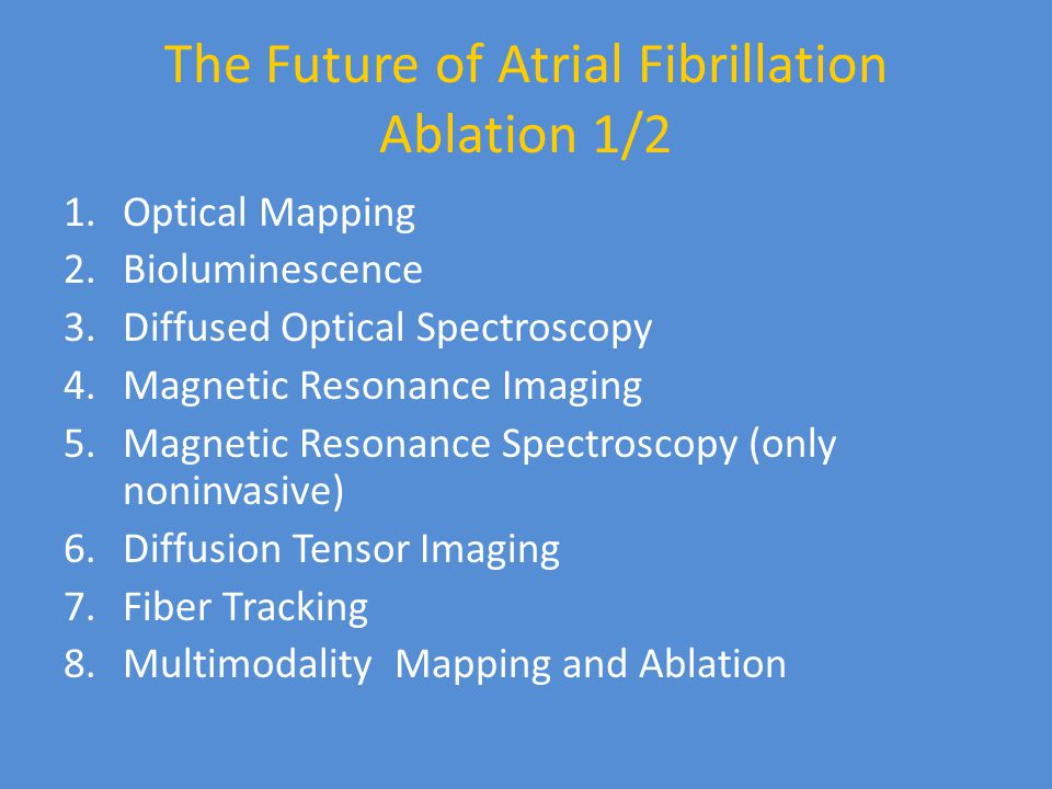 The Future of Atrial Fibrillation Ablation 1/2