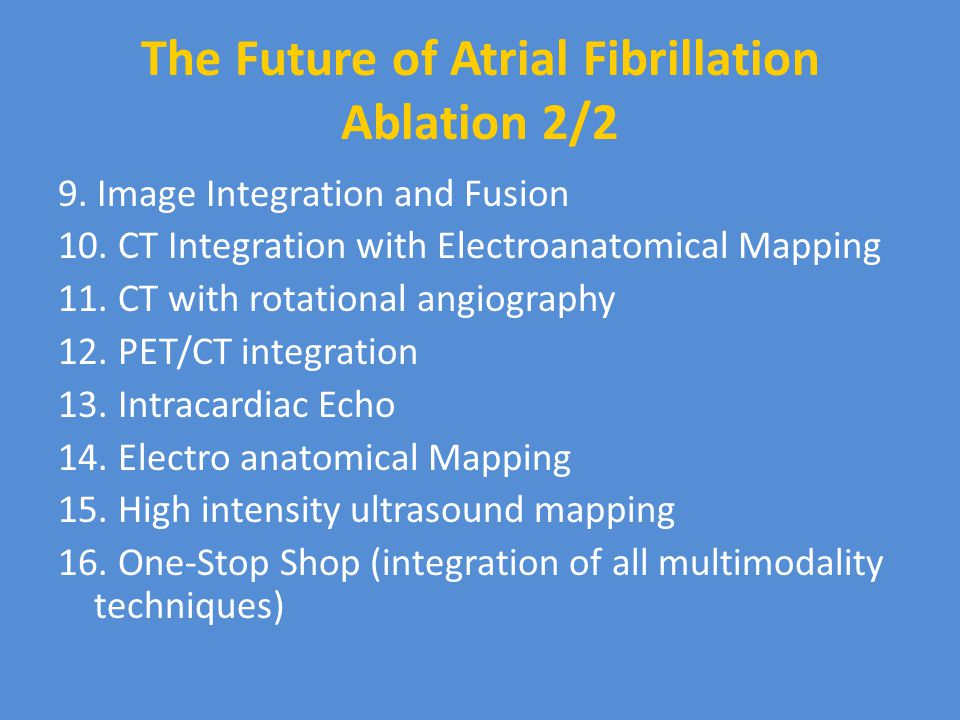 The Future of Atrial Fibrillation Ablation 2/2