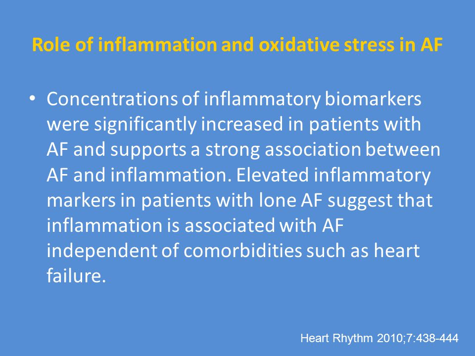 Role of inflammation and oxidative stress in AF