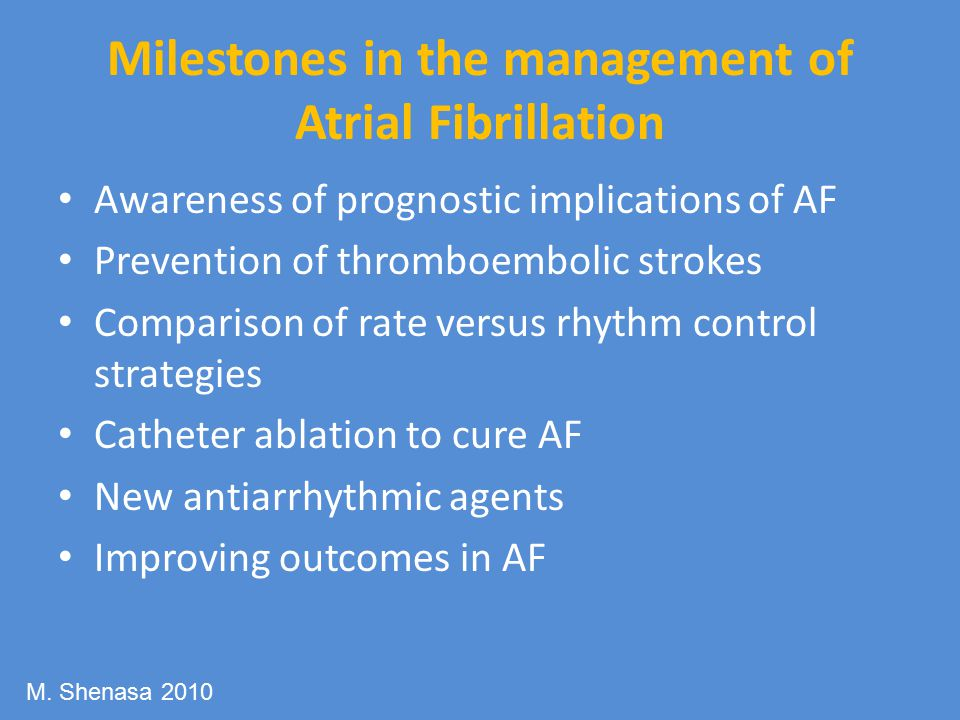Milestones in the management of Atrial Fibrillation