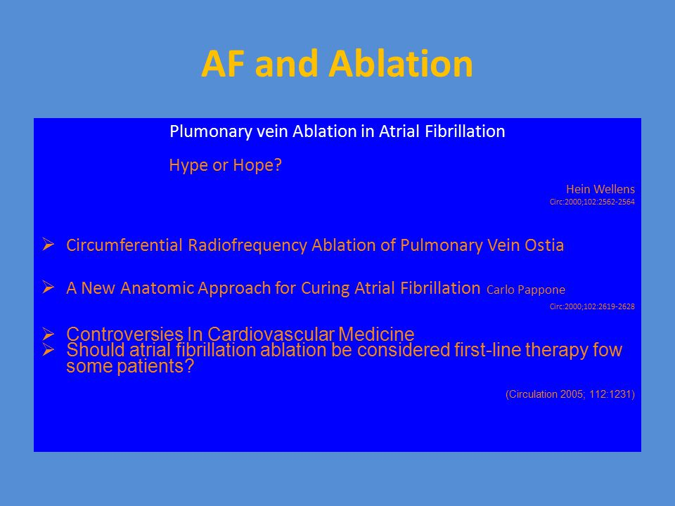 Plumonary vein Ablation in Atrial Fibrillation