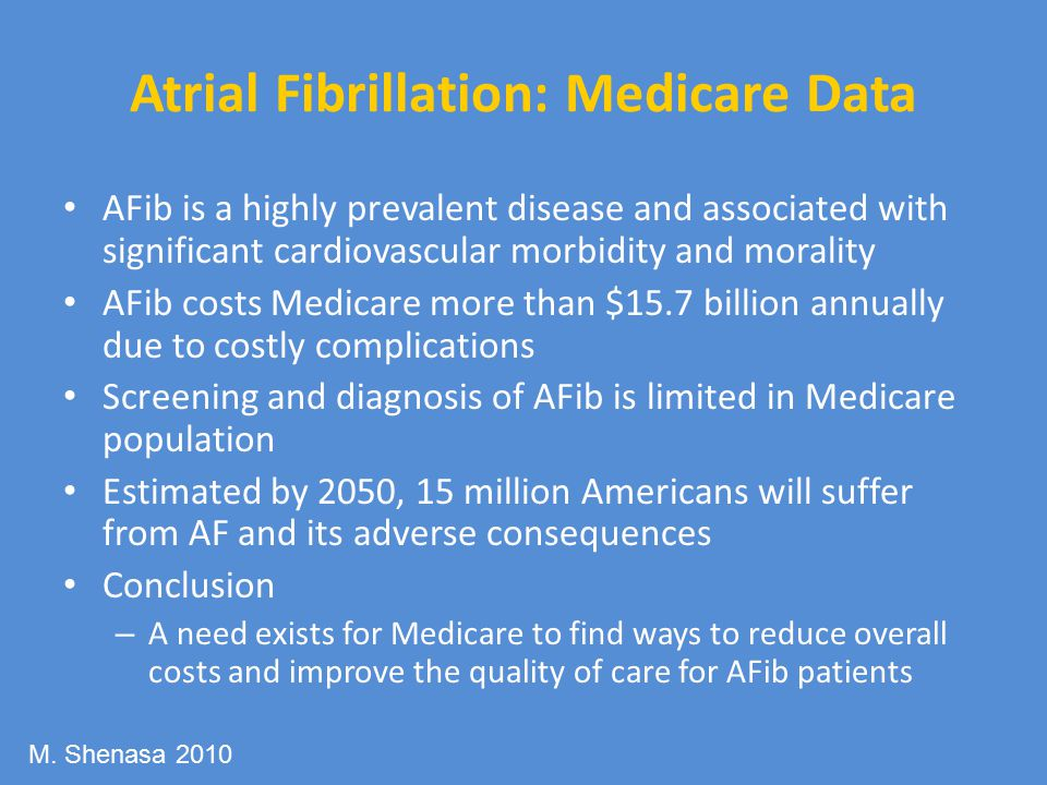 Atrial Fibrillation: Medicare Data