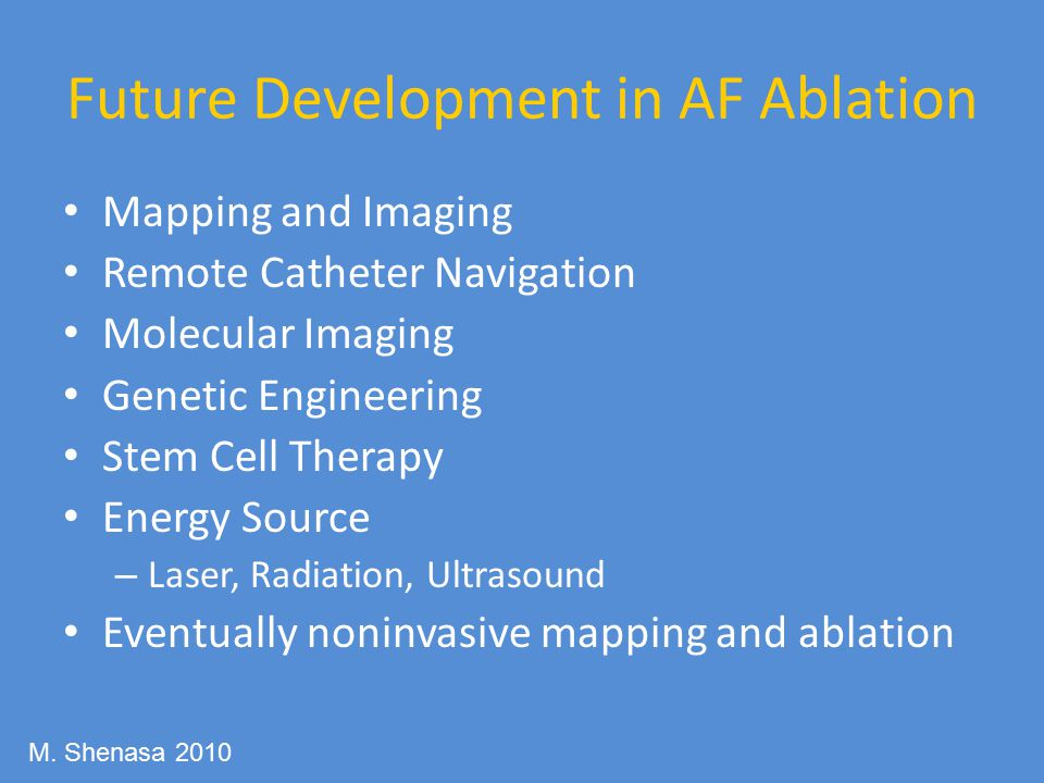Future Development in AF Ablation