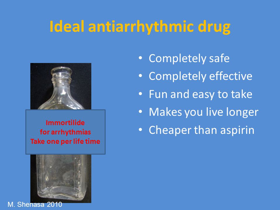 Ideal antiarrhythmic drug