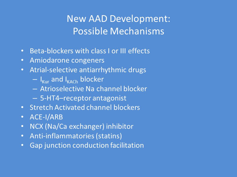 New AAD Development: Possible Mechanisms