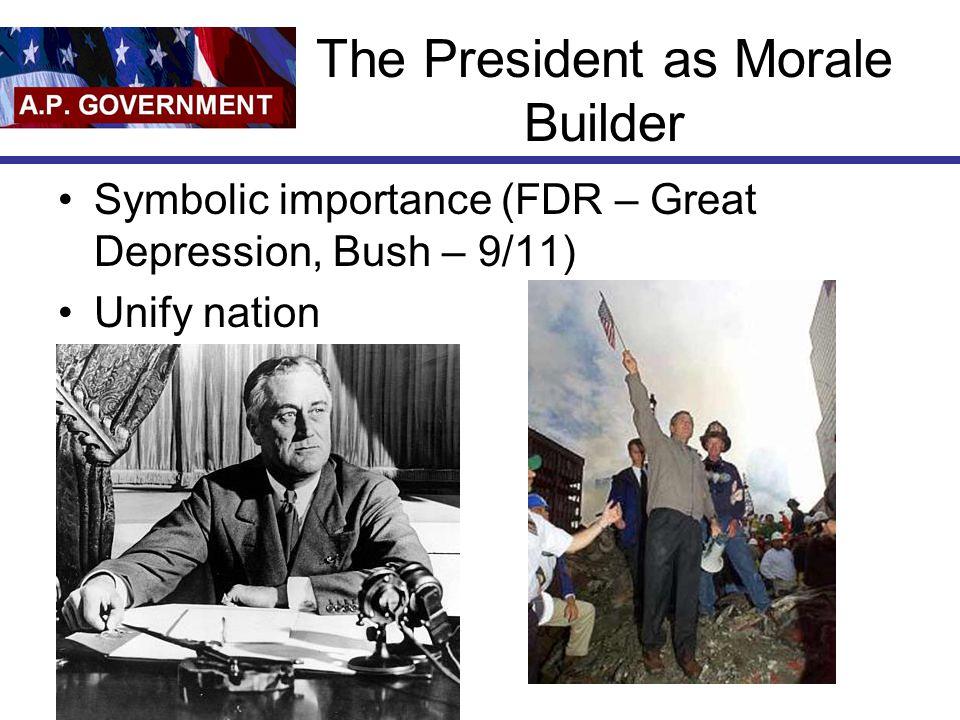 The President as Morale Builder