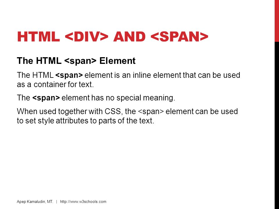 HTML <div> and <span>