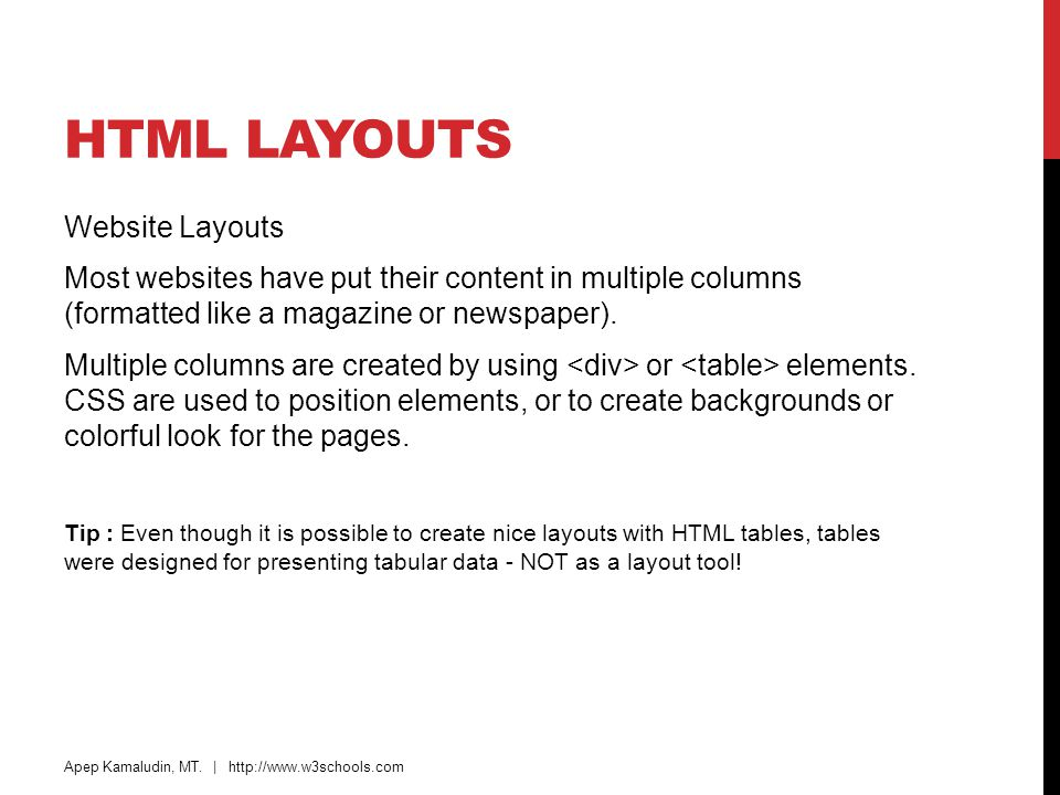 HTML Layouts Website Layouts
