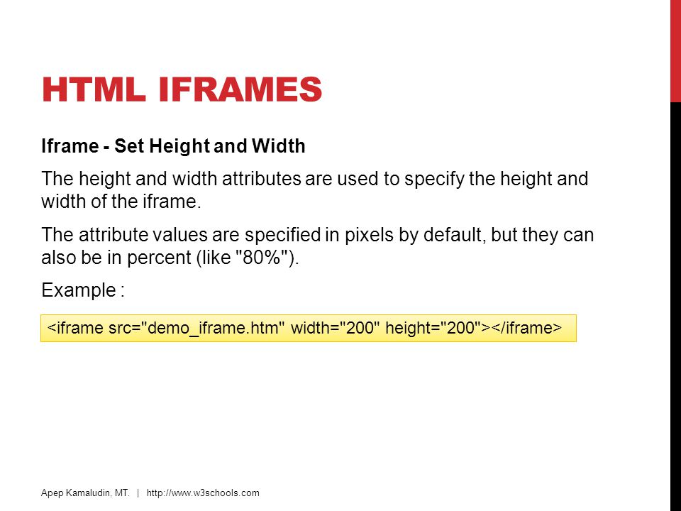 HTML Iframes