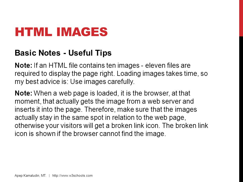 HTML Images Basic Notes - Useful Tips