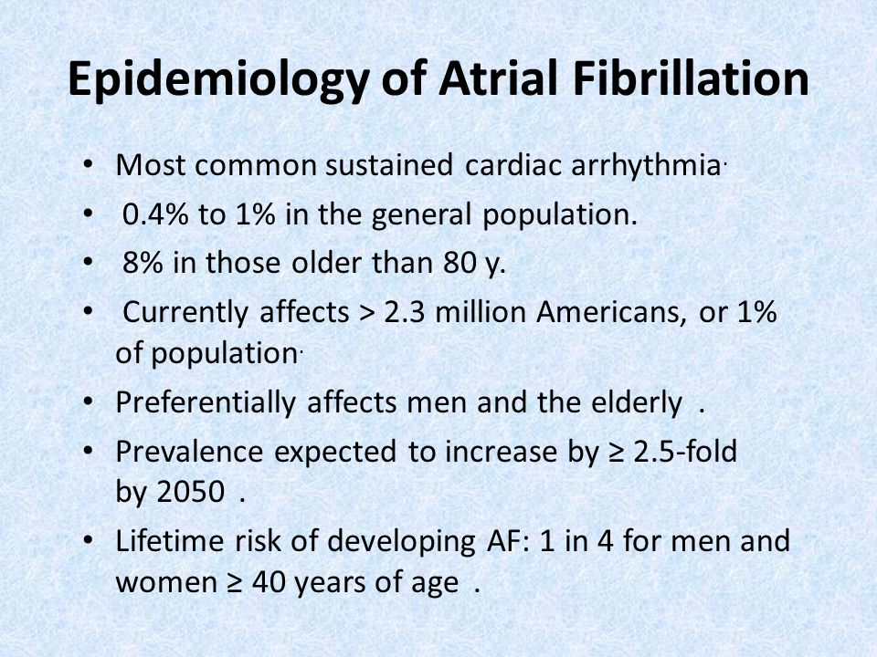 Epidemiology of Atrial Fibrillation