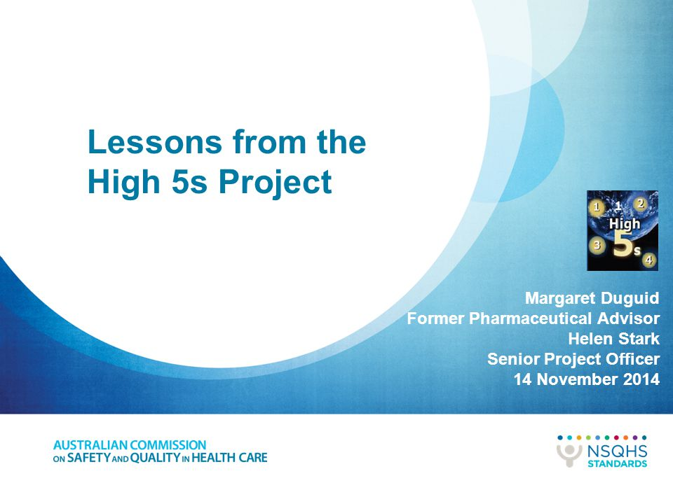 Lessons from the High 5s Project