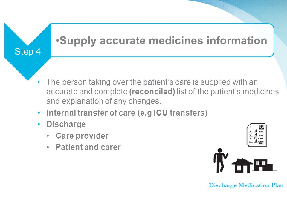 Supply accurate medicines information