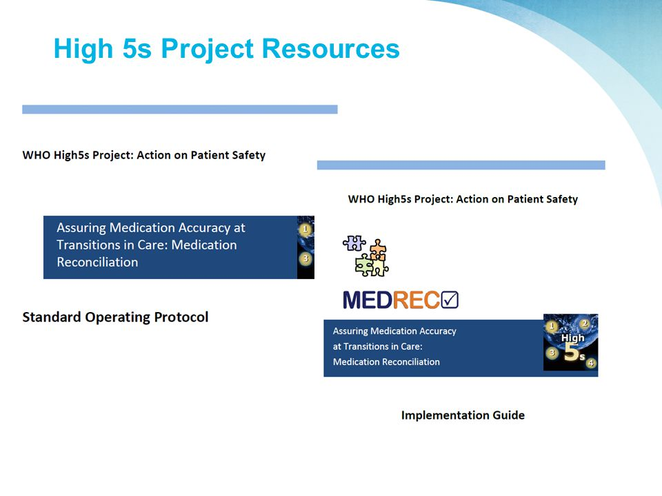 High 5s Project Resources