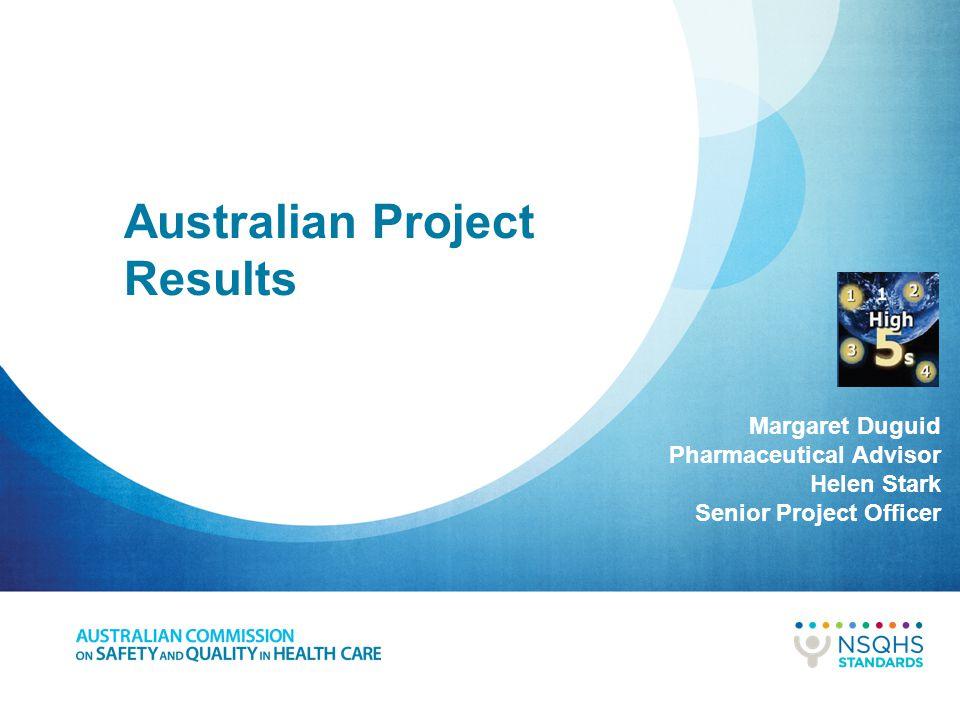 Australian Project Results