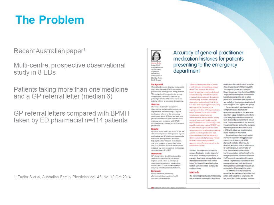 The Problem Recent Australian paper1
