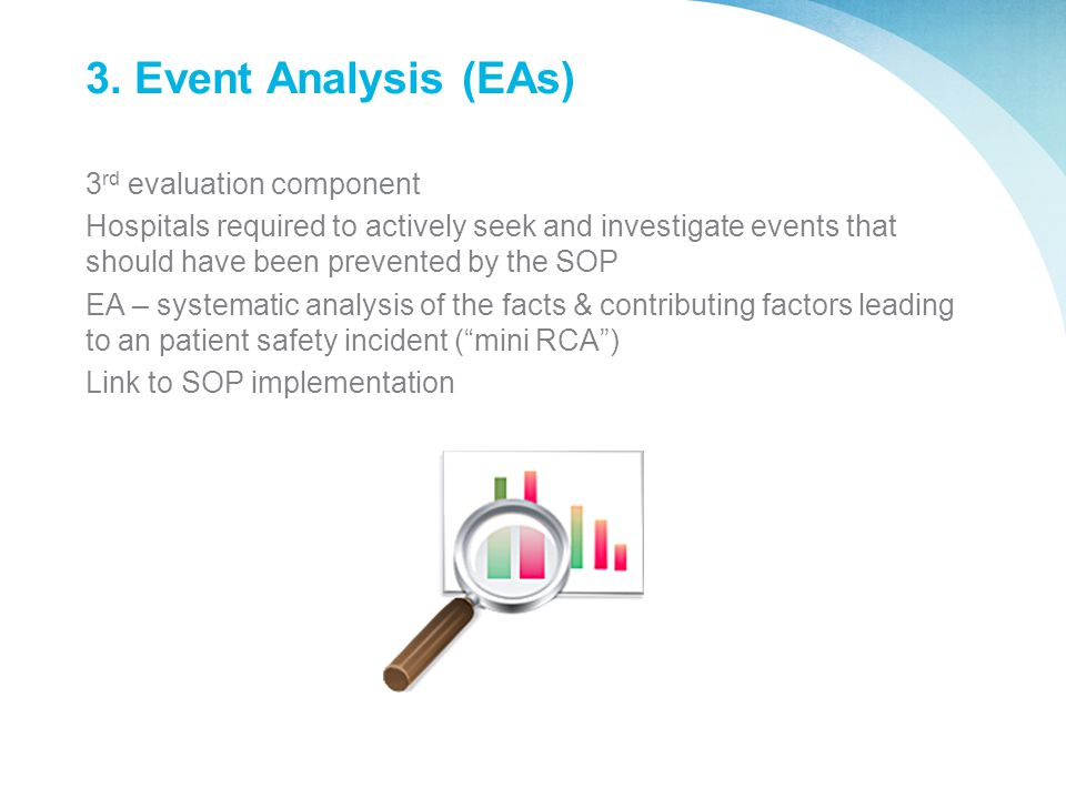 3. Event Analysis (EAs) 3rd evaluation component