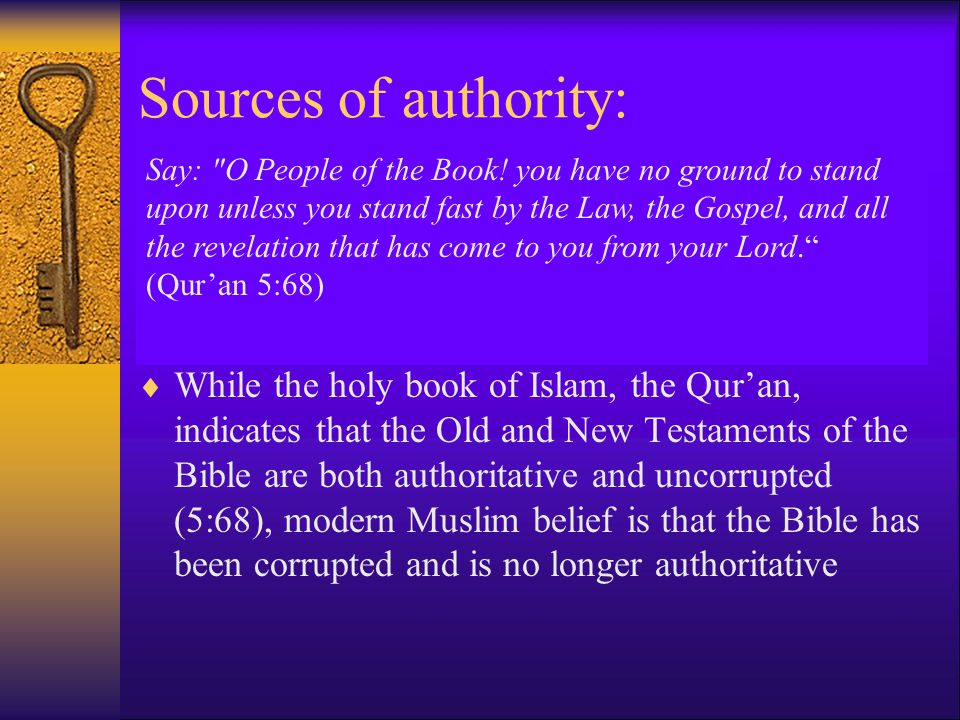Sources of authority: