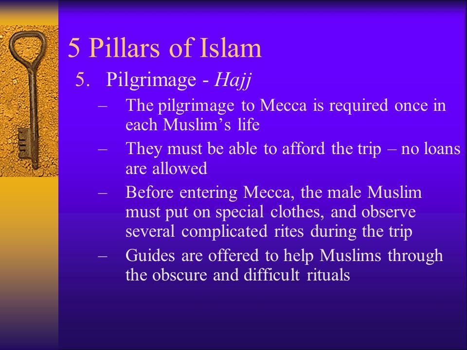 5 Pillars of Islam Pilgrimage - Hajj