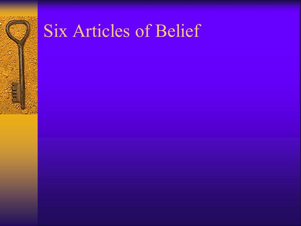 Six Articles of Belief