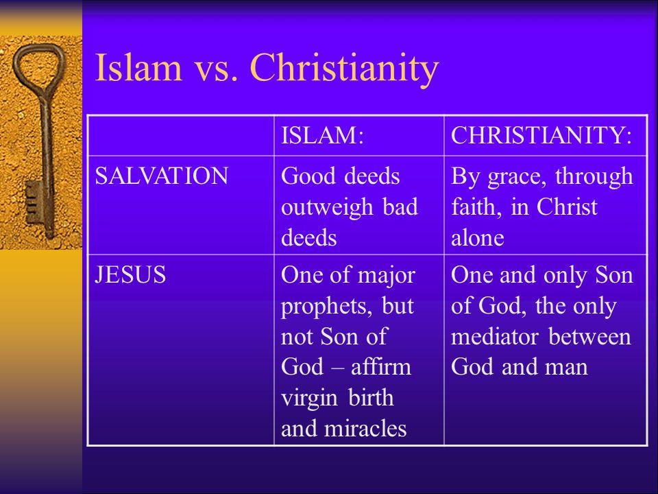 Islam vs. Christianity ISLAM: CHRISTIANITY: SALVATION