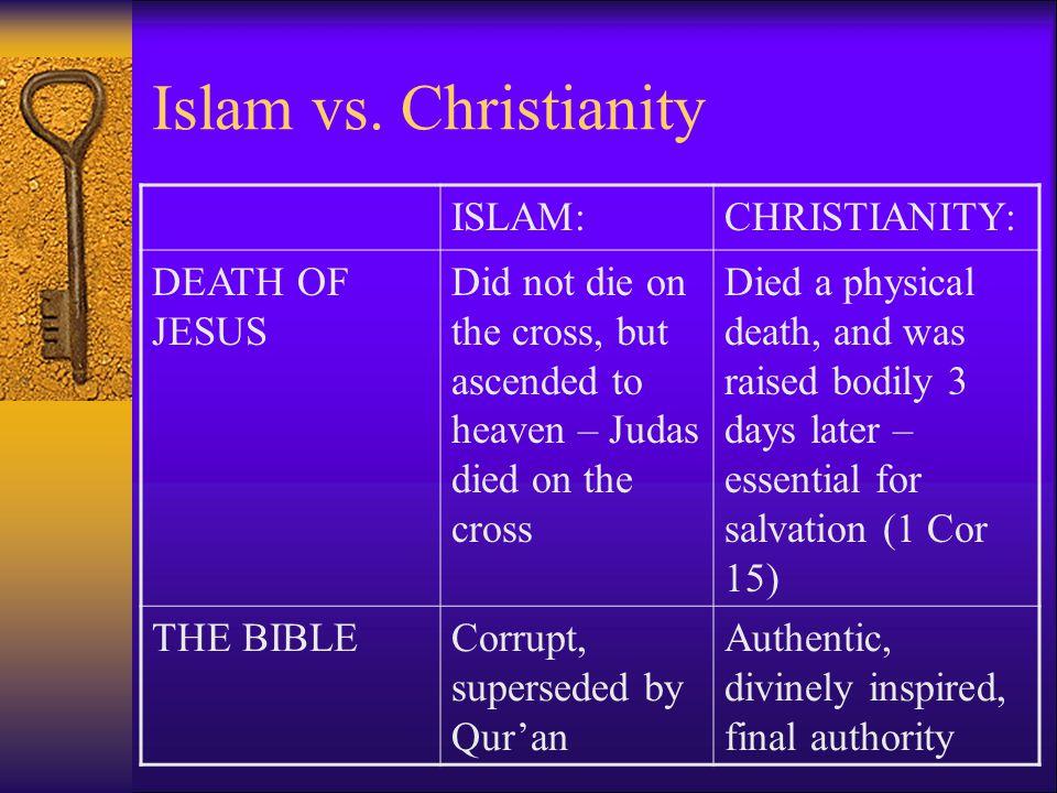 Islam vs. Christianity ISLAM: CHRISTIANITY: DEATH OF JESUS