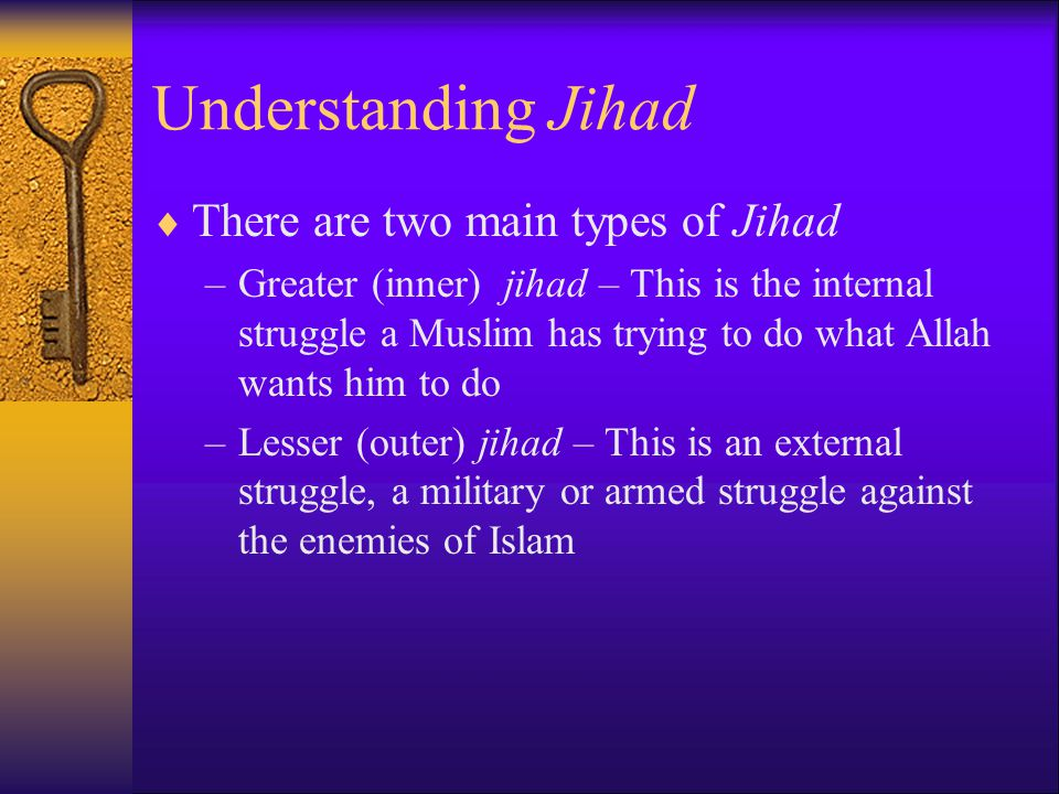 "an understanding of the jihad On the other hand, the call to islam, is a continuous jihad, per the hadith ""i have been ordered to fight the people until they declare that there is no god but allah and that muhammad is his messenger, establish prayers, and pay zakat."