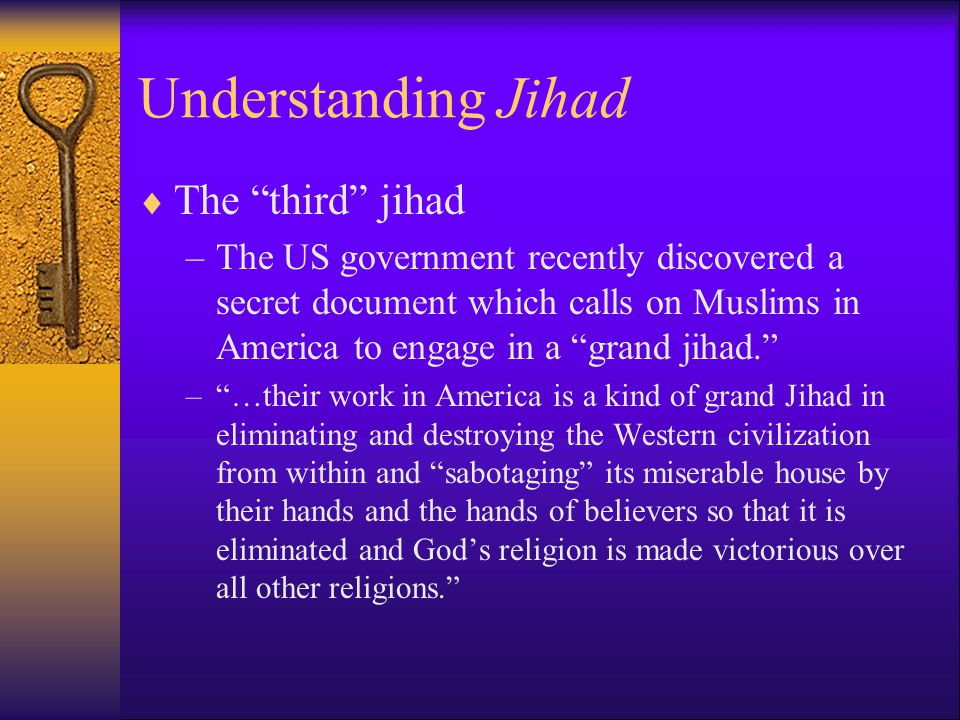 Understanding Jihad The third jihad