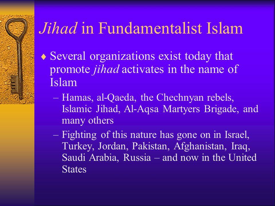 Jihad in Fundamentalist Islam