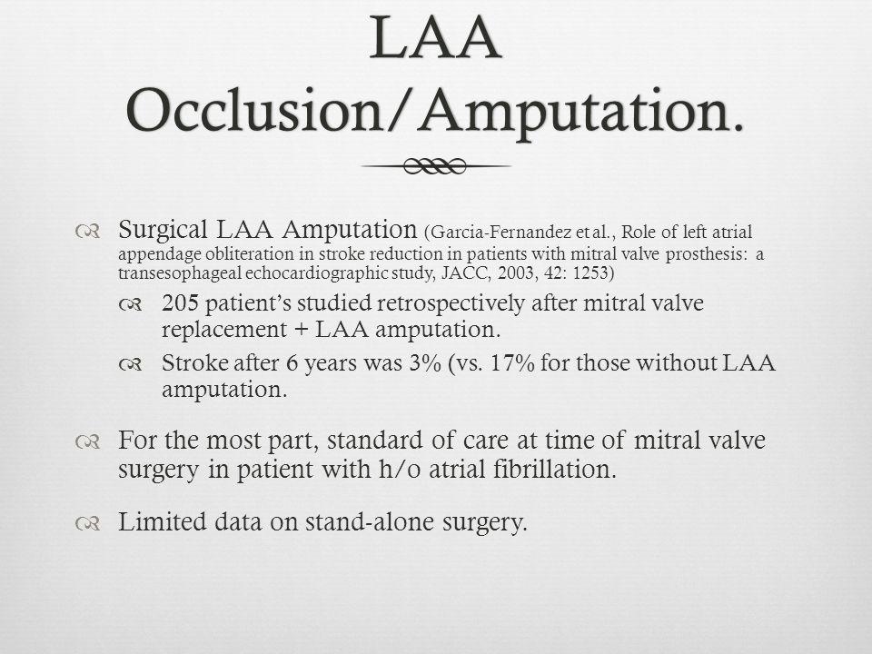 LAA Occlusion/Amputation.