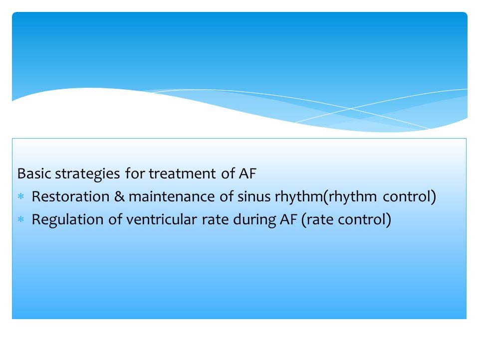 Basic strategies for treatment of AF