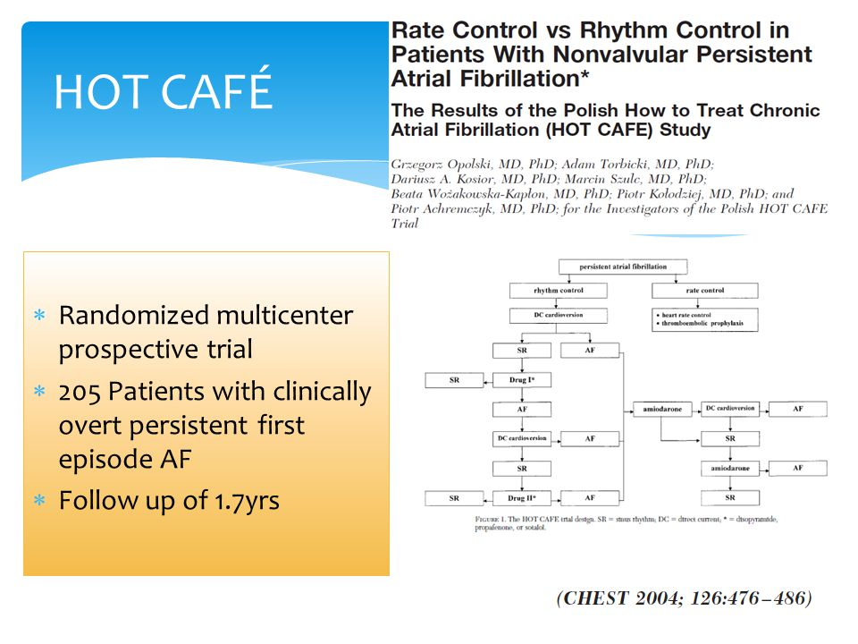 HOT CAFÉ Randomized multicenter prospective trial