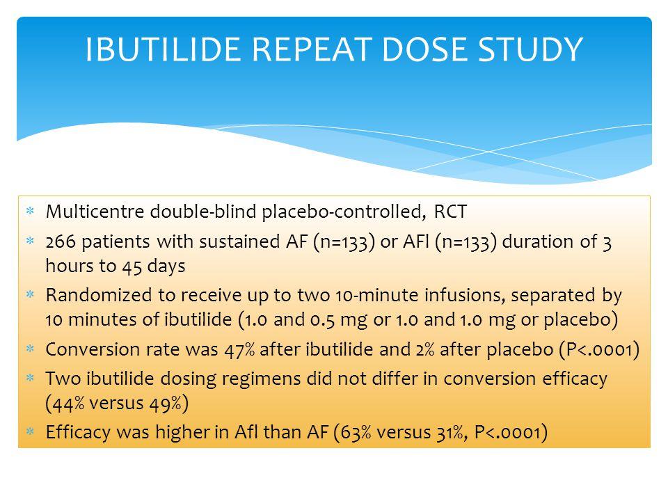IBUTILIDE REPEAT DOSE STUDY