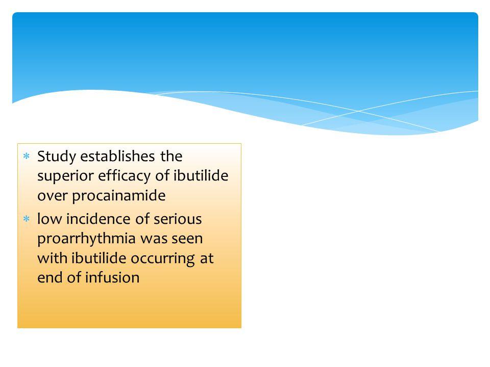 Study establishes the superior efficacy of ibutilide over procainamide