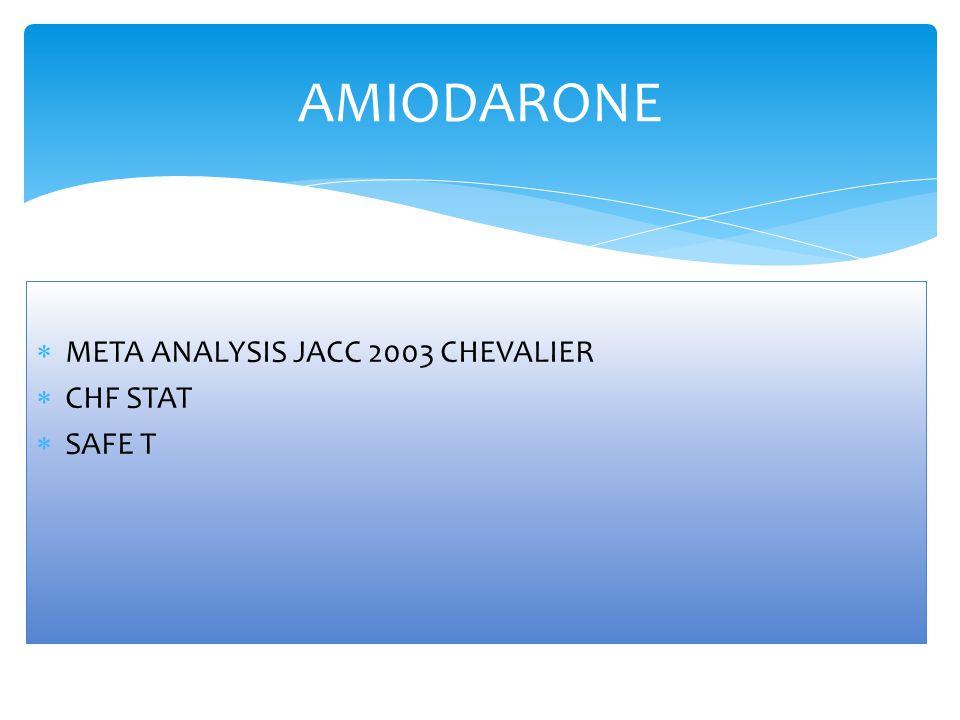 AMIODARONE META ANALYSIS JACC 2003 CHEVALIER CHF STAT SAFE T