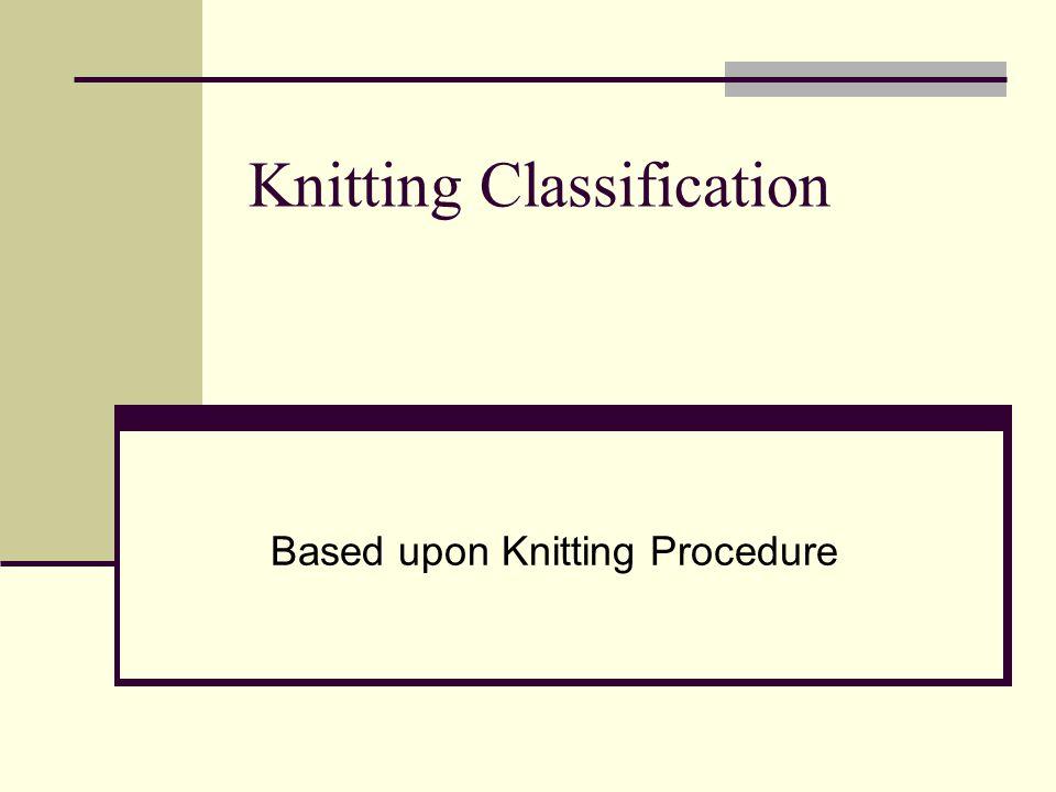 Knitting Classification