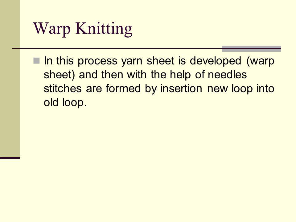Warp Knitting