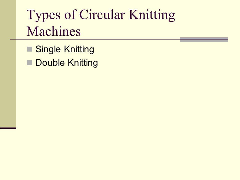Types of Circular Knitting Machines