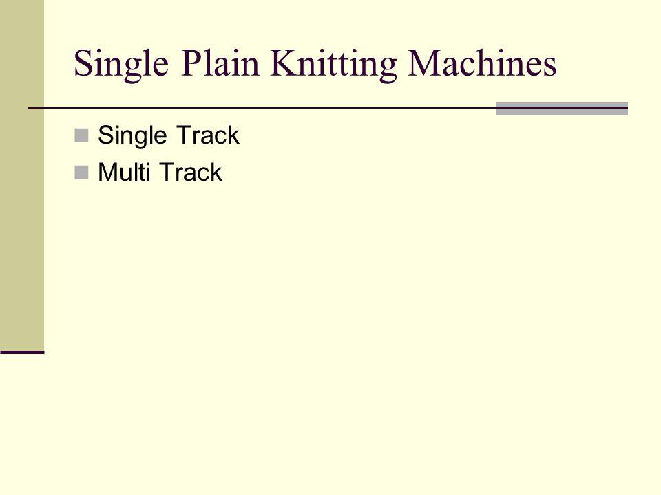 Single Plain Knitting Machines